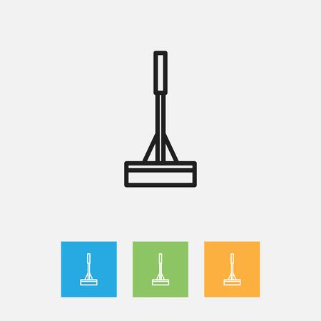 Vector Illustration Of Hygiene Symbol On Mopping Outline