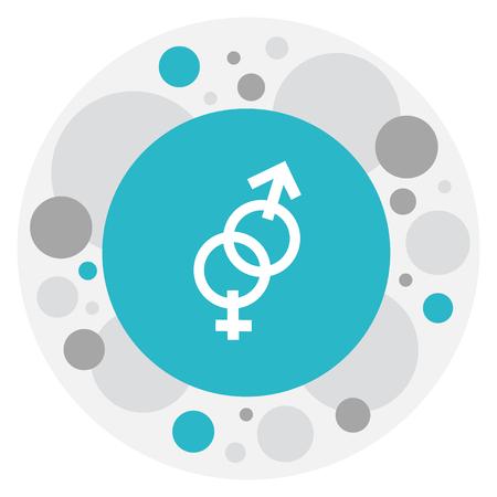 acquaintance: Vector Illustration Of Heart Symbol On Gender Icon