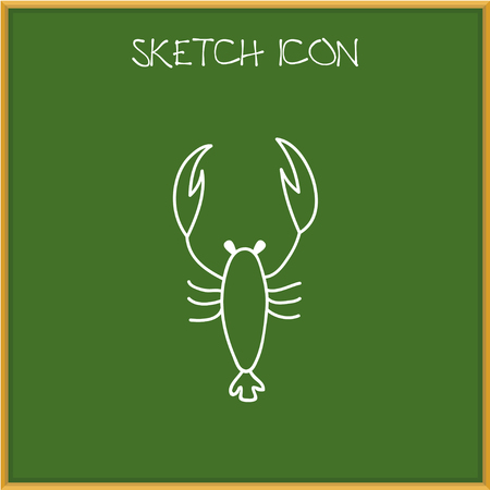 Vector Illustration Of Animal Symbol On Scorpion Doodle Illustration