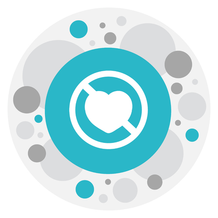 acquaintance: Vector Illustration Of Heart Symbol On No Love Icon