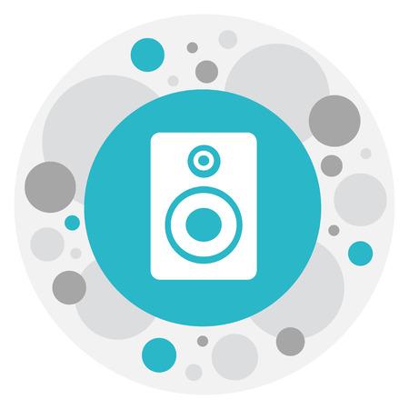 Vector Illustration Of Music Symbol On Music Speaker Icon