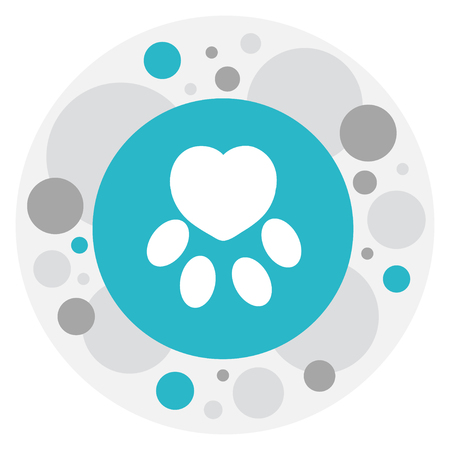 Vector Illustration Of Heart Symbol On Claw Icon
