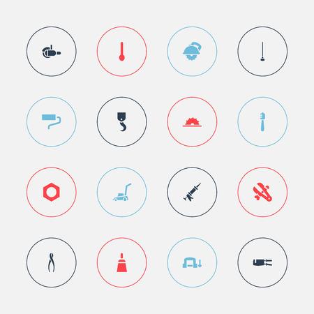 Set Of 16 Editable Apparatus Icons