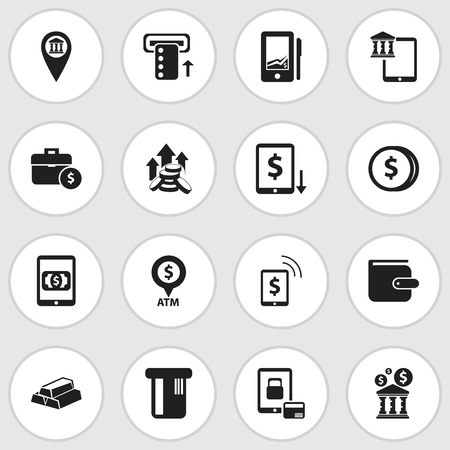 Set Of 16 Editable Financial Icons. Includes Symbols Such As Payment, Finance Protection, E-Commerce And More