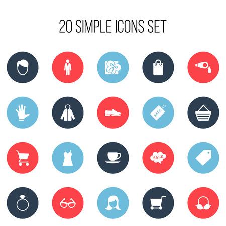 Conjunto De 20 Iconos De Negocios Editable. Incluye símbolos tales como reembolso, monedero, ropa y más
