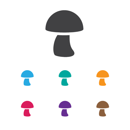 Vector Illustration Of Meal Symbol On Mushroom Icon Illustration