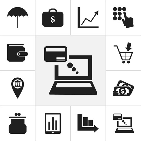 Set Of 12 Editable Investment Icons. Includes Symbols Such As Arrow, Remuneration, Shopping Pushcart And More Illustration