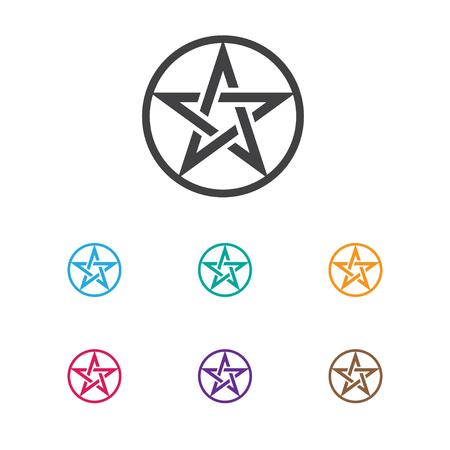 Vector Illustration Of Religion Symbol On Baphomet Symbol Icon
