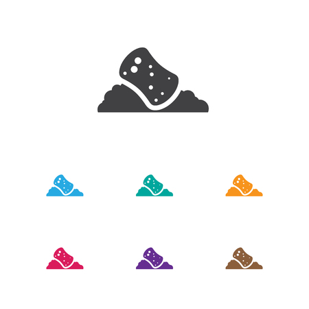Illustration Of Cleanup Symbol On Sponge Icon