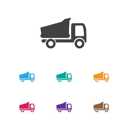 heart monitor: Colorful trucks illustration.
