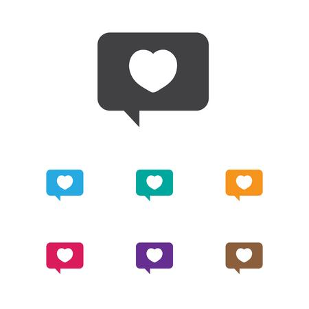 情熱愛情メール アイコンをシンボルのベクトル イラスト  イラスト・ベクター素材