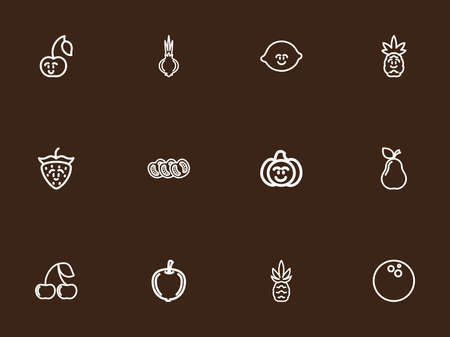 berry: Set Of 12 Editable Kitchenware Outline Icons. Includes Symbols Such As Lime, Gourd, Berry And More