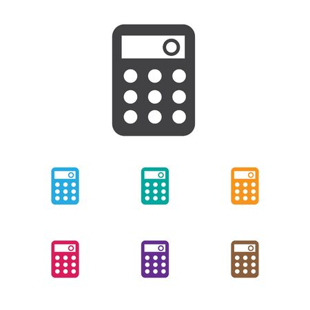 Vector Illustration Of Banking Symbol On Calculate Icon Иллюстрация