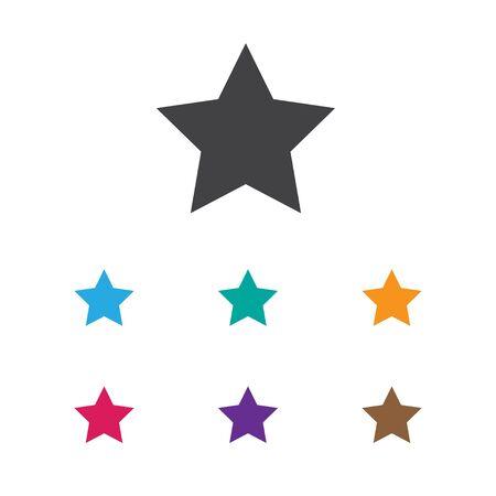 Vector Illustration Of Internet Symbol On Star Icon