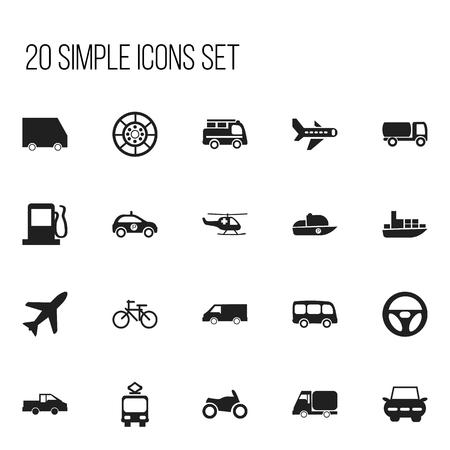 Set of 20 editable shipment icons.