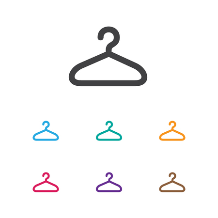 suspender: Vector Illustration Of Shopping Symbol On Hanger Icon. Premium Quality Isolated Suspender Element In Trendy Flat Style. Illustration