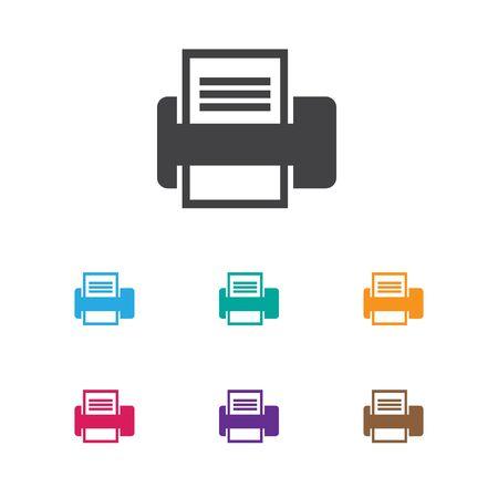 Illustrazione vettoriale del simbolo dell'ufficio sull'icona della stampante Archivio Fotografico - 84358605