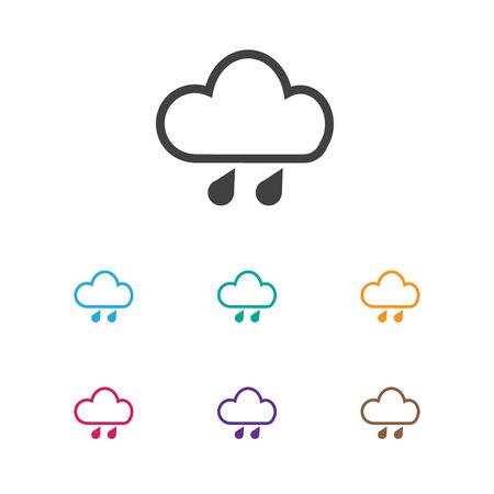 rainy season: Vector Illustration Of Climate Symbol On Deluge Icon. Premium Quality Isolated Precipitation Element In Trendy Flat Style.