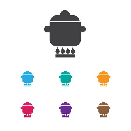 Ilustración de vector de Cook Symbol en el icono de utensilios de cocina. Premium Quality Isolated Prepare el elemento de la comida en estilo plano de moda.