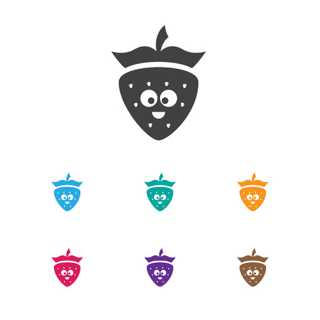 Vector Illustration Of Vegetable Symbol On Berry Icon. Premium Quality Isolated Strawberry Element In Trendy Flat Style. Illustration