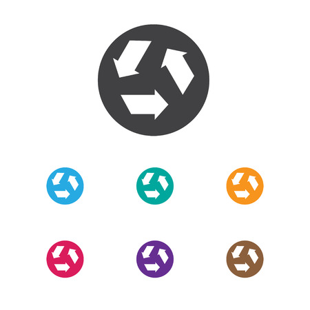 Vector Illustration Of Cleanup Symbol On Garbage Recycling Icon. Premium Quality Isolated Ecology Element In Trendy Flat Style.