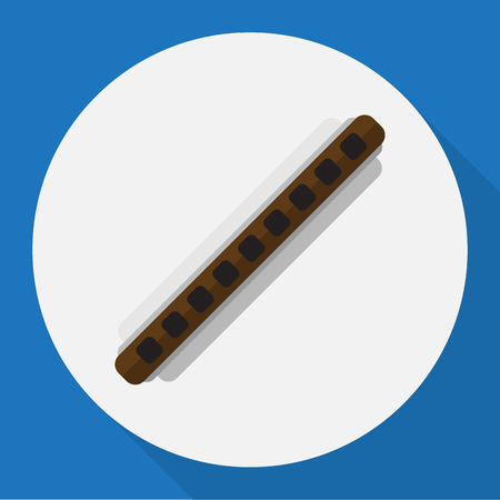 Vector Illustration Of Mp3 Symbol On Clarinet Flat Icon. Premium Quality Isolated Oboe Element In Trendy Flat Style. Illustration