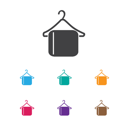 checkroom: Vector Illustration Of Plaza Symbol On Clothing Hook Icon. Premium Quality Isolated Hanger Element In Trendy Flat Style.