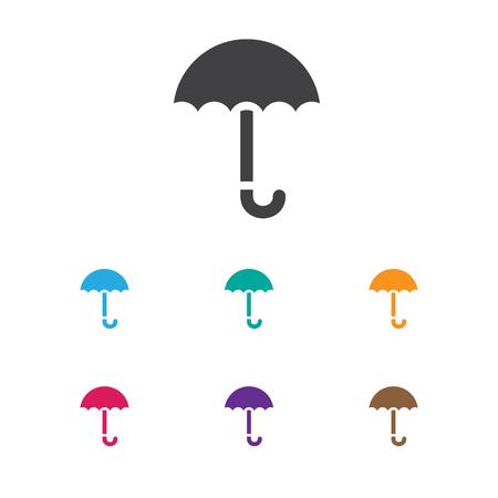 Vector Illustration Of Trade Symbol On Umbrella Icon. Premium Quality Isolated Gingham Element In Trendy Flat Style. Illustration