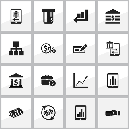 Set Of 16 Editable Investment Icons. Includes Symbols Such As Purchase, Monitoring, Salary And More