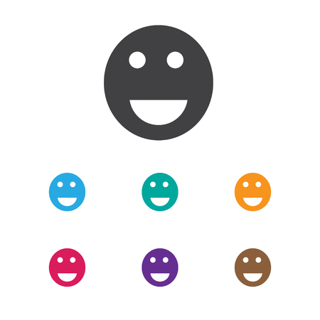 wap: Vector Illustration Of Internet Symbol On Smile Icon. Premium Quality Isolated Emoji Element In Trendy Flat Style.