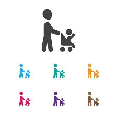 Vector Illustration Of Folks Symbol On Daddy Icon Ilustração