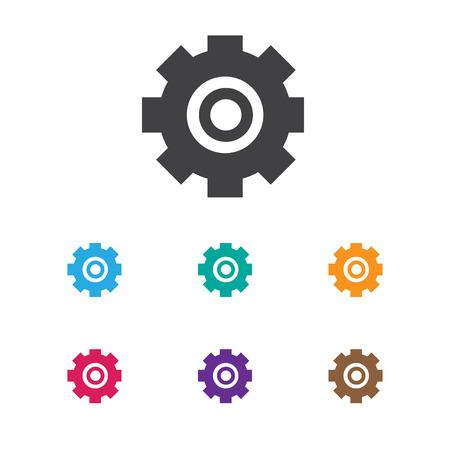 rackwheel: Vector Illustration Of Repair Symbol On Cogwheel Icon. Premium Quality Isolated Gear Element In Trendy Flat Style.