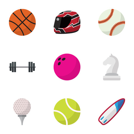 Set Of 9 Editable Exercise Flat Icons. Includes Symbols Such As Miniball, Bodybuilding, Strategic And More. Can Be Used For Web, Mobile, UI And Infographic Design.