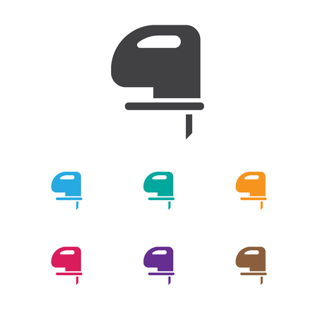 Vector Illustration Of Equipment Symbol On Cutter Machine Icon. Premium Quality Isolated Saw Element In Trendy Flat Style. Illustration