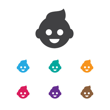 Vector Illustration Of Relatives Symbol On Kid Icon. Premium Quality Isolated Baby Element In Trendy Flat Style.