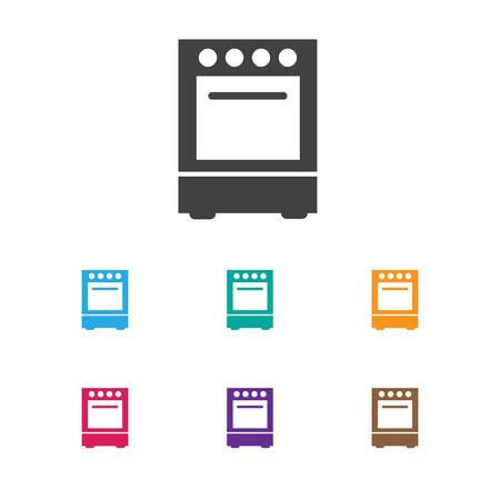 Illustration vectorielle du symbole de cuisinière sur l'icône de la cuisinière. Élément de four isolé de qualité Premium dans un style plat dernier cri.