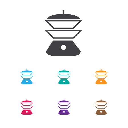 Vector Illustration Of Cook Symbol On Electric Stove Icon. Premium Quality Isolated Multicooker Element In Trendy Flat Style. Illustration
