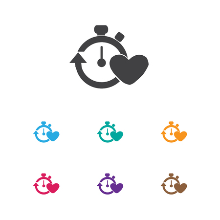 Vector Illustration Of Healthy Symbol On Stopwatch Icon