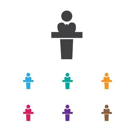 Vector Illustration Of Community Symbol On Presenter Icon Illustration