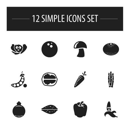 Set of vegetable icons. Illustration