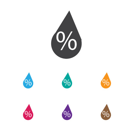 Vector Illustration Of Climate Symbol On Trickle Icon. Premium Quality Isolated Interest Element In Trendy Flat Style.