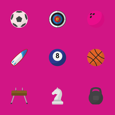 sea goat: Set Of 9 Editable Healthy Flat Icons. Includes Symbols Such As Strategic, Sphere, Darts And More. Can Be Used For Web, Mobile, UI And Infographic Design.