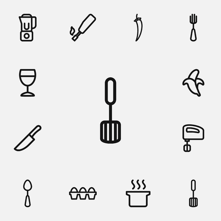 champagne celebration: Set Of 12 Editable Cook Outline Icons. Includes Symbols Such As Blender, Mixer, Kitchenette And More. Can Be Used For Web, Mobile, UI And Infographic Design.