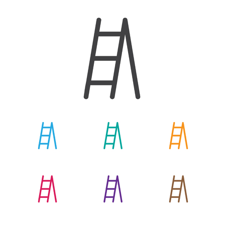 rung: Vector Illustration Of Planting Symbol On Ladder Icon. Premium Quality Isolated Stairway Element In Trendy Flat Style. Illustration