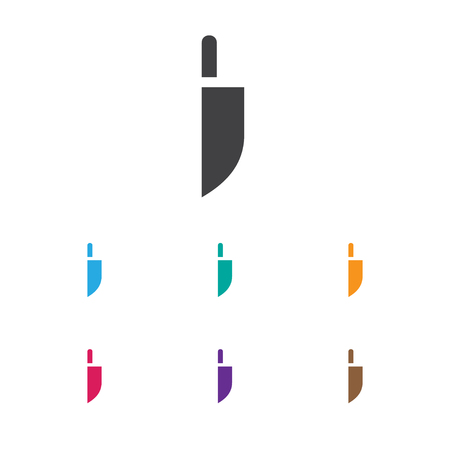 Vector Illustration Of Apparatus Symbol On Knife Icon. Premium Quality Isolated Cleaver Element In Trendy Flat Style. Illustration