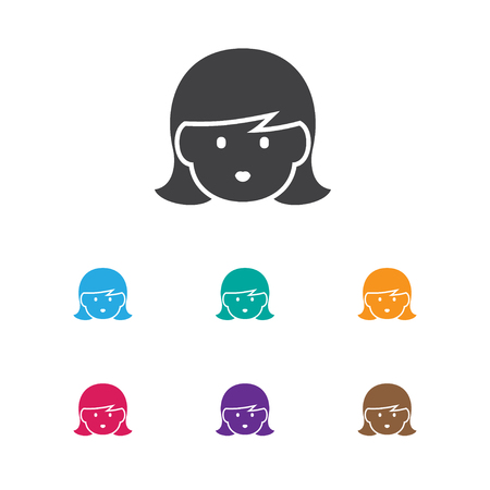 Vector Illustration Of Folks Symbol On Mom Icon. Premium Quality Isolated Mother Element In Trendy Flat Style. Illustration