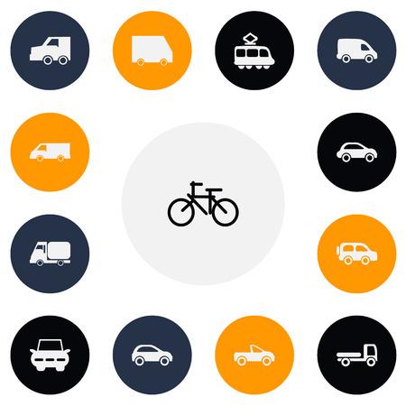 camion: Set Of 13 Editable Transport Icons Illustration