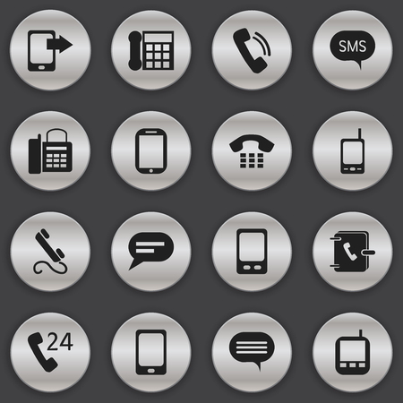 planner: Set Of 16 Editable Gadget Icons Illustration