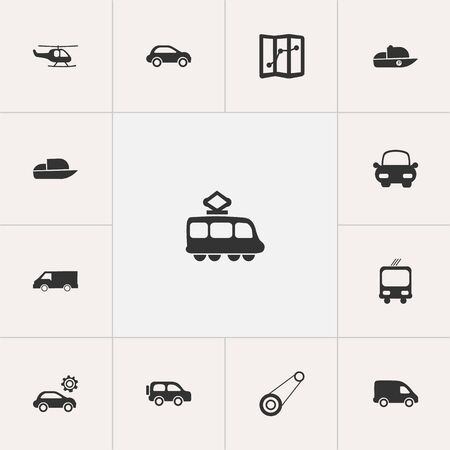 garage: Set Of 13 Editable Transport Icons. Includes Symbols Such As Delivery, Transportation, Navigation And More. Can Be Used For Web, Mobile, UI And Infographic Design.