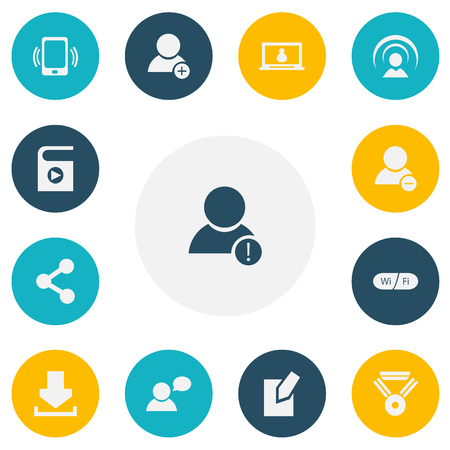 new addition: Set Of 13 Editable Internet Icons. Includes Symbols Such As Edit File, Delete Member, Smartphone And More